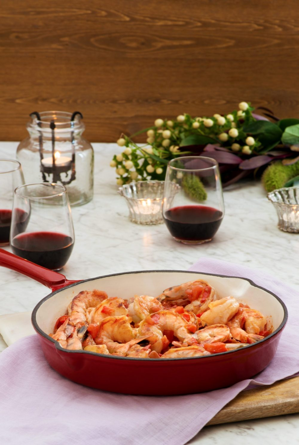Sizzling Shrimp with Red Peppers